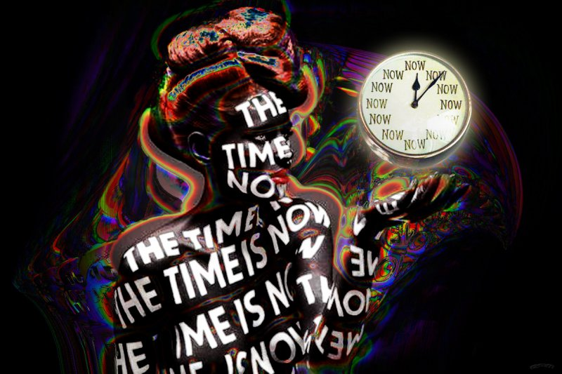 NOW time graphic clock