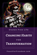 Pinterest mini image - Changing habits for transformation with clock painting