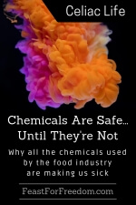 Pinterest mini image - Chemicals are safe until they're not, why all the chemicals used by the food industry are making us sick with bright colored chemicals poured into water and looking like a pink and orange cloud