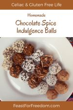 Pinterest mini image - Chocolate spice cookies with various coatings