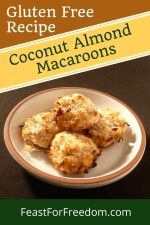Pinterest mini image 2 - A plate of Coconut almond cookies
