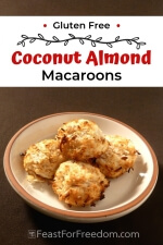 Pinterest mini image 5 - Coconut almond cookies on a plate