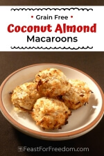 Pinterest mini image 7 - Coconut almond cookies piled on a plate
