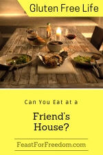 Pinterest mini image - Can you eat at a friend's house with a rustic yet elegant dinner setting for 2