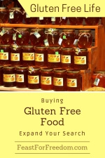Pinterest mini image - Buying gluten free food, expand your search with jars of fresh honey on a nice outdoor display