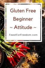 Pinterest mini image - Gluten free beginner - attitude - with red chili peppers