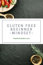 Pinterest mini image - Gluten free beginner mindset with red and black peppers