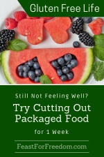 Pinterest mini image - Cut out packaged food to feel better with watermelon and blueberries