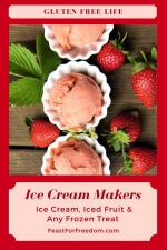 Pinterest mini image - Ice cream makers to the rescue for frozen treats with fresh strawberry ice cream