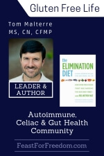 Pinterest mini image - Tom Malterre - Leader & author in the autoimmune, celiac and gut health community with photo and book