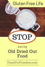Pinterest mini image - Stop eating old dried out food, with a jar of flour