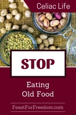 Pinterest mini image - Stop eating old food with jars of beans and lentils