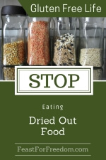 Pinterest mini image - Stop eating dried out food with dried beans, rice and grains