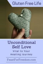 Pinterest mini image - Unconditional self love with handmade crocheted heart