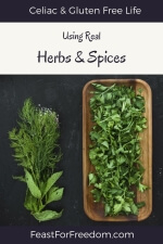 Pinterest mini image - Using real herbs and spices, with fresh herbs and flower bundles