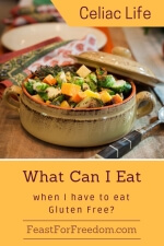 Pinterest mini image - What can I eat when I have to eat gluten free with roasted mixed veggies