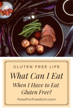 Pinterest mini image - What can I eat when I have to eat gluten free, with a roast beef dinner with green beans and small whole potatoes