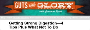 SummerBock.com - Guts and Glory homepage image
