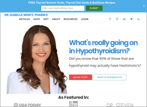 ThyroidPharmacist.com homepage image