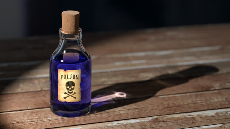 Antique poison vial
