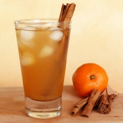 Citrus iced tea in a glass with ice
