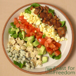 Cobb Salad served on a plate