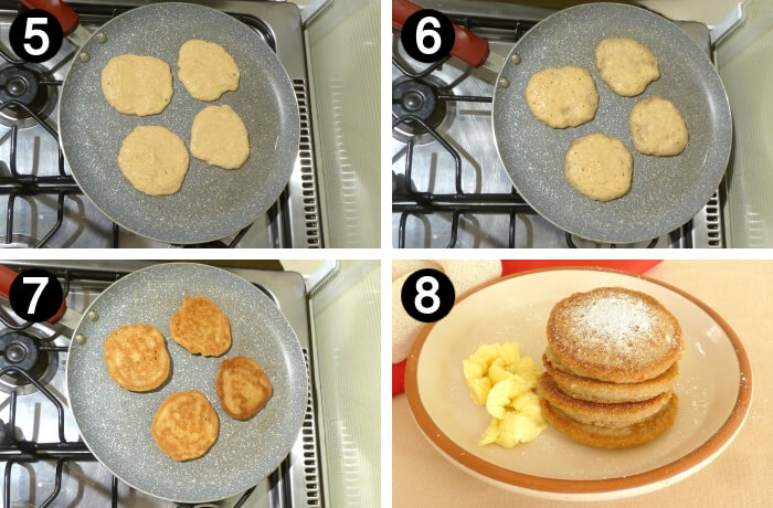How to make grain free pancakes how to steps 5 to 8