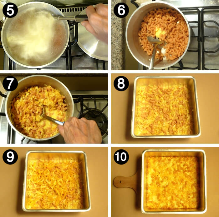 How to make baked mac and cheese how to steps 5 to 10