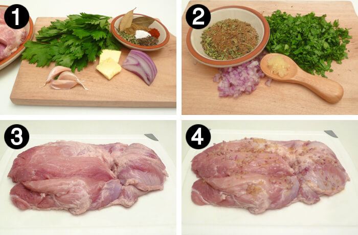How to make Roast Pork how to steps 1 to 4