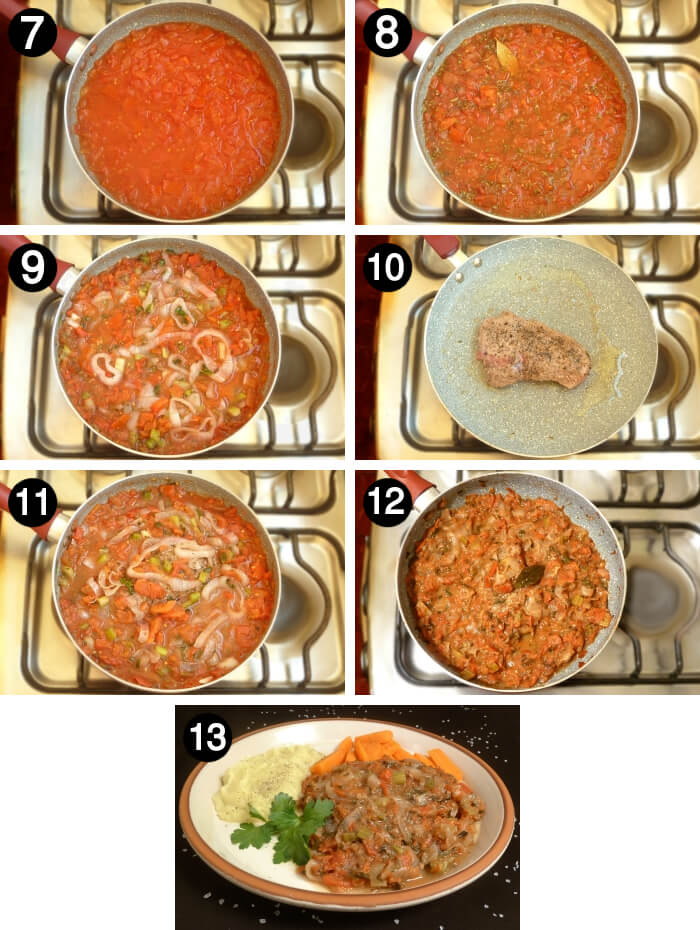 How to make Swiss Steak how to steps 7 to 13